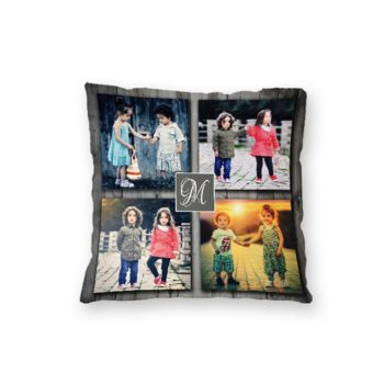 NEW!! Personalized Initial  Photo Throw Pillow (Microfiber, Fleece, or Polypoplin) Thumbnail