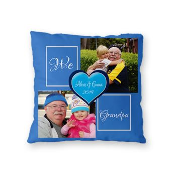 NEW!! Personalized 'We Love Grandpa' Photo Throw Pillow (Microfiber, Fleece, or Polypoplin) Thumbnail