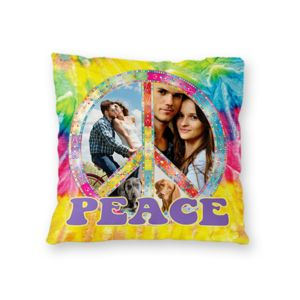 NEW!! Personalized 'Peace' Photo Collage Microfiber Throw Pillow - 16