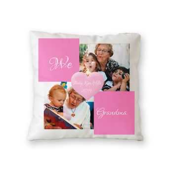NEW!! Personalized 'We Love Grandma' Photo Throw Pillow (Microfiber, Fleece, or Polypoplin) Thumbnail
