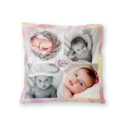 NEW!! Personalized 'My Baby Love' Photo Collage Microfiber Throw Pillow - 16