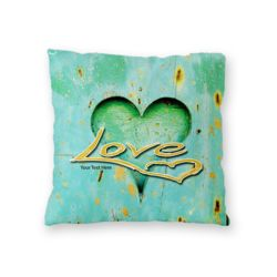 NEW!! Personalized 'Love'  Photo Collage Microfiber Throw Pillow - 16