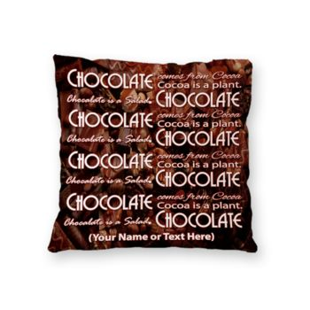 NEW!! Personalized 'Chocolate Salad Photo Throw Pillow (Microfiber, Fleece, or Polypoplin) Thumbnail
