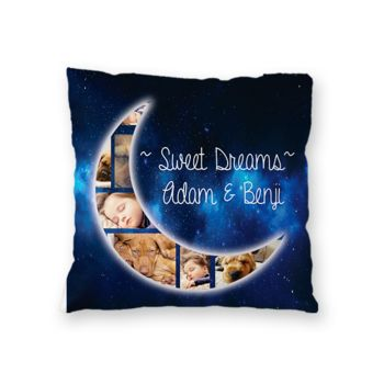 NEW!! Personalized 'Sweet Dreams' Photo Throw Pillow (Microfiber, Fleece, or Polypoplin) Thumbnail