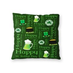NEW!!! St. Patrick's Day Iconic Pattern Throw Pillow - Microfiber, Fleece, or Polypoplin Thumbnail