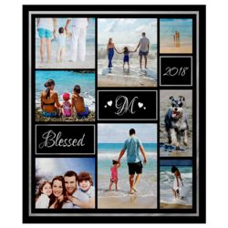 NEW!!! Personalized 'Blessed' Photo Collage Small Soft Fleece Throw Blanket - 30
