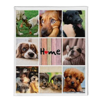 NEW!!! Personalized 'Home' Photo Collage Throw Blanket  Thumbnail