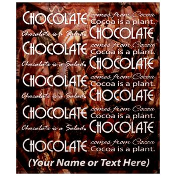 NEW!!! Personalized 'Chocolate' Photo Collage Throw Blanket  Thumbnail