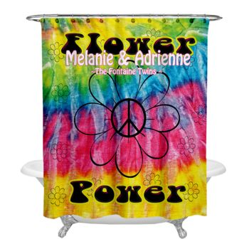 NEW!!! Flower Power Personalized Photo Shower Curtain Thumbnail