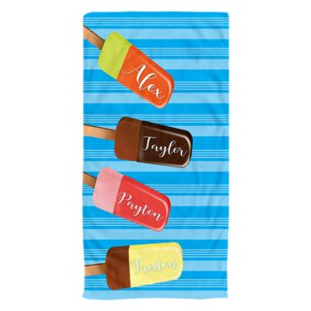 NEW!!! Personalized Ice Cream Days Photo Collage Beach Towel Thumbnail