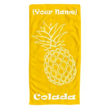 NEW!!! Personalized Pineapple Colada Photo Collage Beach Towel Thumbnail