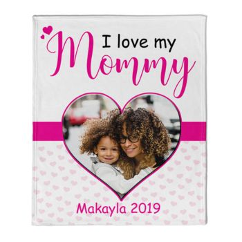 NEW!!! Personalized 'Mommy - Daughters'  Photo Collage Mother's Day Throw Blanket  Thumbnail