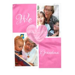 NEW!!! Personalized 'We Love Grandma' Photo Collage LRG Soft Fleece Throw Blanket - 60