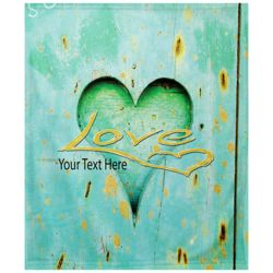 NEW!!! Personalized 'Love' Photo Collage Medium Soft Fleece Throw Blanket - 50