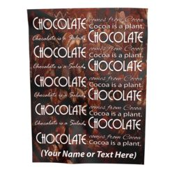 NEW!!! Personalized 'Chocolate' Photo Collage Plush Velveteen Small Throw Blanket - 30