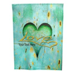 NEW!!! Personalized 'Love' Photo Collage Plush Velveteen Small Throw Blanket - 30