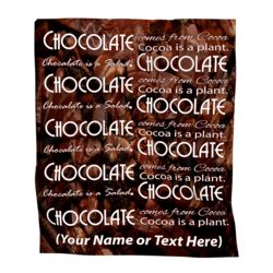 NEW!! Personalized Photo Collage 'Chocolate'  Plush Velveteen Medium Throw Blanket - 50