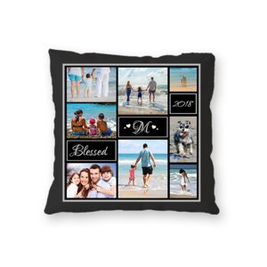 NEW!! Personalized Photo Collage Fleece 'Blessed' Throw Pillow - 20