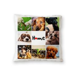 NEW!! Personalized Home Fleece Photo Collage Throw Pillow - 18