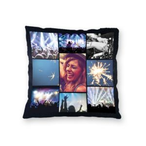 NEW!! Personalized 'Nite 9' Fleece Photo Collage Throw Pillow - 20