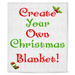 Personalized Christmas Photo Collage Soft Medium Fleece Blanket - 50
