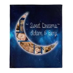 NEW!!! Personalized 'Sweet Dreams' Photo Collage Medium Plush Velveteen Throw Blanket - 50