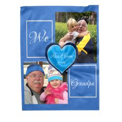 NEW!!! Personalized 'We Love Grandpa' Photo Collage Medium Plush Velveteen Throw Blanket - 60
