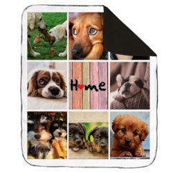 NEW!!! Personalized 'Home' Photo Collage Contrast Stitch Blanket - 50