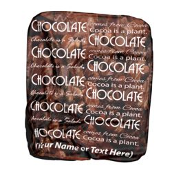 NEW!!! Personalized 'Chocolate' Photo Collage Contrast Stitch Throw Blanket - 50