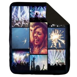 NEW!!! Personalized 'Nite 9' Photo Collage Medium Soft Fleece Throw Blanket - 50