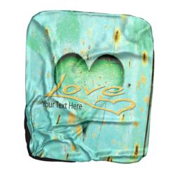 NEW!!! Personalized 'Love' Photo Collage Contrast Stitch Throw Blanket - 50