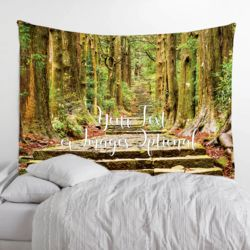 Personalized Photo Collage Fleece Hidden Forest Tapestry with Optional Grommets - 60
