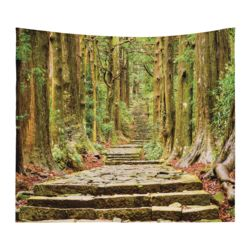 Personalized Photo Collage Microfiber Hidden Forest Tapestry with Optional Grommets - 60