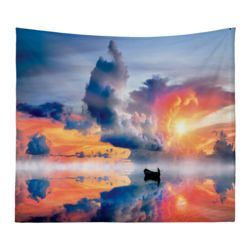 Personalized Photo Collage Sunset Microfiber Wall Tapestry - 80