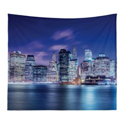 Personalized Photo Collage Manhatten Microfiber Wall Tapestry - 80