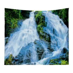 Personalized Photo Collage Waterfall Microfiber Wall Tapestry - 80