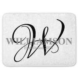Personalized Monogrammed Coral Fleece Bath Mat with Name Thumbnail
