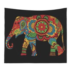 NEW!!! Hamsa Elephant Microfiber Wall Tapestries - 60