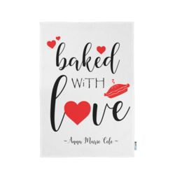 Personalized Baked with Love Kitchen Towel 11
