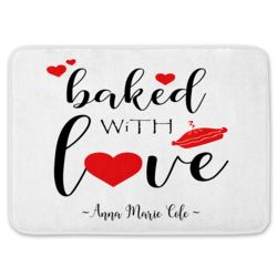 NEW!!! Personalized Monogrammed Baked with Love Kitchen Floor Mat 27