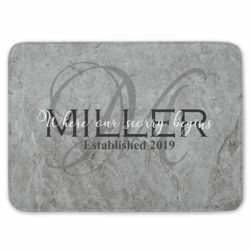 NEW!!! Personalized Monogrammed Our Story Begins Kitchen Floor Mat  27