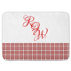 NEW!!! Personalized Monogrammed Plaid Kitchen Floor Mat  27