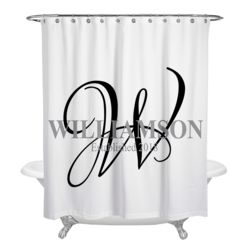 NEW!!! Personalized Monogrammed Elegant Shower Curtain Thumbnail