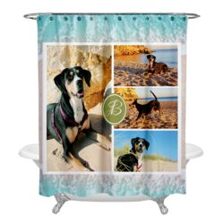Personalized Photo Collage Beach Shower Curtain Thumbnail