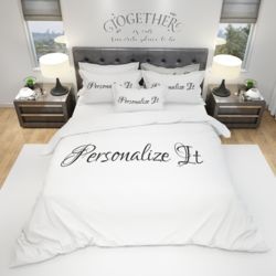 His & Hers Duvet Cover and PC Bundle - Personalized Thumbnail