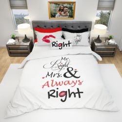 His & Hers Duvet Cover and PC Bundle - Right (Optional Personalization) Thumbnail