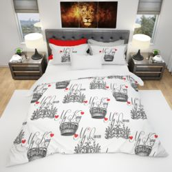His & Hers Duvet Cover and PC Bundle - My King My Queen  Thumbnail