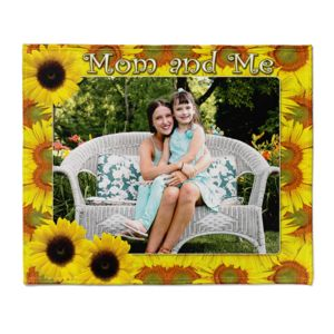 NEW!!! Personalized Sunflower Frame Mother's Day Fleece 50