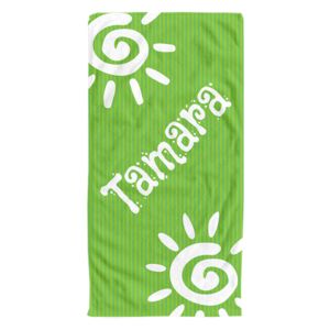 NEW!!! Personalized Green Days Photo Collage Beach Towel Thumbnail
