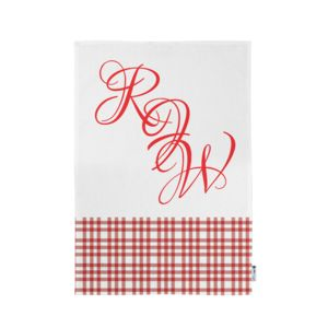 Personalized Monogrammed Plaid Kitchen Towel 11